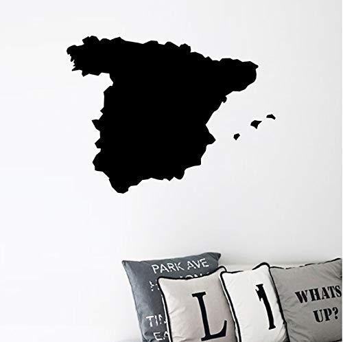 Mapa de España Silueta Vinilo Etiqueta Engomada Del Arte En Casa Decoración de La Pared Tatuajes de Arte de La Pared Para La Ventana Del Coche Decoración Del Ordenador Portátil 57x40 cm