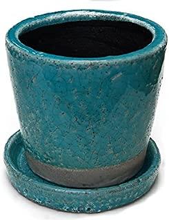 Color glazed pot カラフル テラコッタポット 植木鉢 CH13-G476TQ