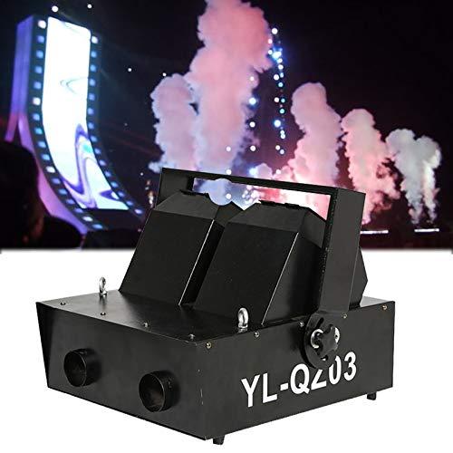 Doppelkopf DMX Haze Nebelmaschine, Rauchmaschine Nebelmaschine für Bühneneffekt, CO2 Luftsäulenmaschine Bühneneffekt Ausrüstung für Hochzeitsfeier Club DJ Bar Theater TV Live Konzerte,Black