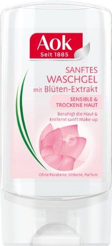 Aok Sanftes Waschgel mit Blüten-Extrakt, 3er Pack (3 x 150 ml)