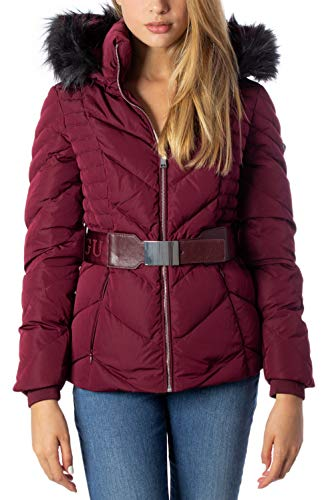 Guess Piumino Lungo Donna Petra Down Jacket w94l81w94g0 XS Bordeaux