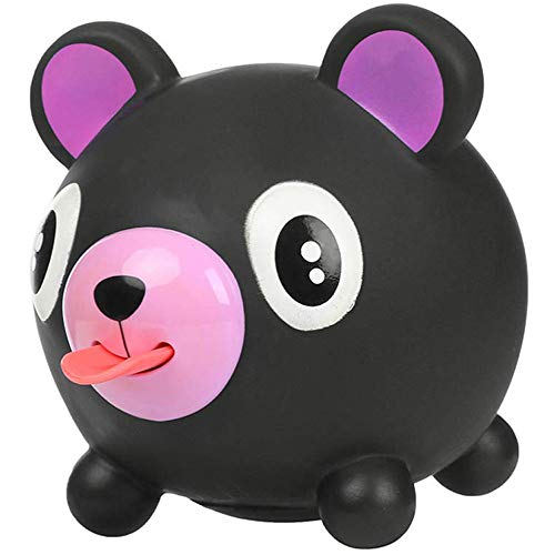 Stress Relieve Toy, Talking Animal Toys, Squeeze and Play Sound Stress Relievers Ball Tongue Out Soft Ball Screaming Toy Gift for Children Kids, Teens, Adults, Black Bear