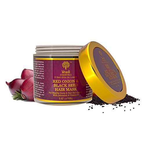 Khadi Essentials Luxurious Ayurvedic Advanced Red Onion Black Seed Oil with Jaborandi for Hair Fall Control Hair Mask, 100gm...