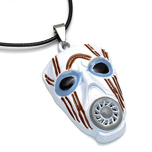 LevinArt Borderlands Maske anhänger Metallart Halskette Cosplay Geschenk Männer Frauen