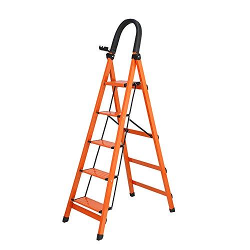 LSX-Step Krukken Uitklapbare Ladder - Huishoudelijke Vouwtrap Kruk Ladder Voor Volwassenen Aluminium Opvouwbare 3/4/5Tread Stepkruk Met Antislip Mat En Beveiliging Sloten Stap ladder