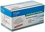 Höga-Pharm Alkoholtupfer Premium, zur äußeren Anwendung, reißfest, gebrauchsfertig, 2 lagig, 1er Pack (1 x 100 Stück) -
