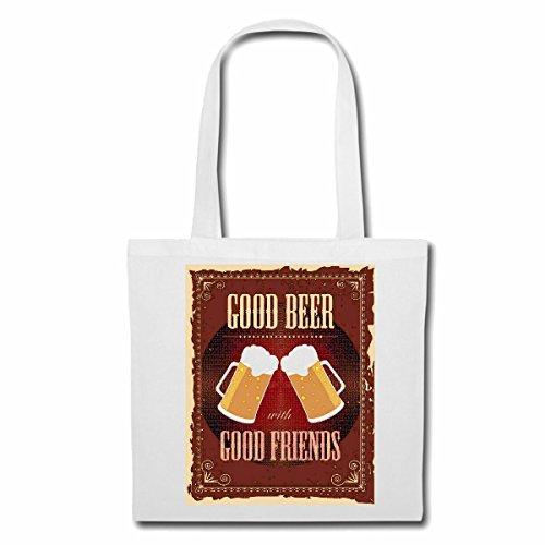 Tasche Umhängetasche Good Beer Good Friend Bier WEIZENBIER PILZ Bierkrug BIERGLAS BRAUEREI Alkohol Party Bier Wodka Schnaps Wein Alkohol Rotwein WEIßWEIN LIKÖR Einkaufstasche Schulbeutel Turnbeutel
