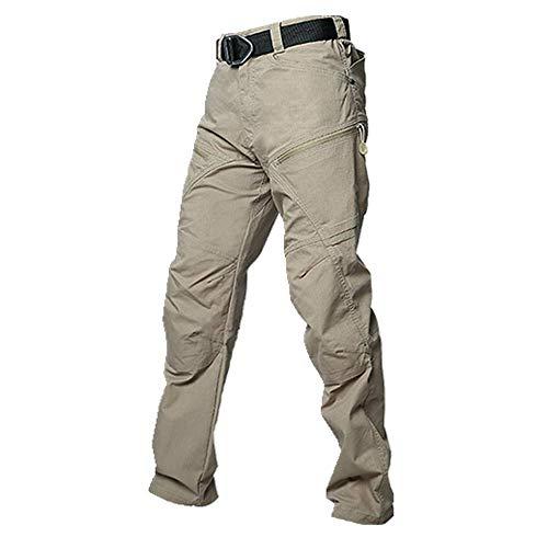 N\P Mono de los hombres de verano recto pantalones de algodón multi-bolsillo elástico hombres