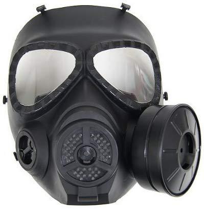 Sutekus M04 Airsoft Mask Full Face Skull CS Mask with Fan (1 Fan)