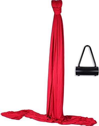 Diabolo Freizeitsport Vertikaltuch 6m Rot für Deckenhöhe 2-3m Ink. Halterung Aufkleber Vertikaltücher oder Aerial Silk zur Circus Jonglage