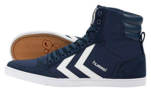 Hummel Unisex-Erwachsene Hummel Slimmer Stadil High-Top, Blau (Dress Blue/White KH), 45 EU