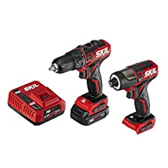 2-Tool drill Combo KIT—Drill set includes Brushless 12V 1/2 inch drill driver and brushless 1/4 inch hex Impact driver. Plus a PWR core 12 2. 0Ah Lithium battery and PWR jump charger. Compact SIZE—The digital Brushless motor provides compact, lightwe...