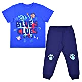 Nickelodeon's Blues' Clues 2 Pack Jogger Set for Boys, Kid's Tee Shirt and Pants, Blue, Size 2T
