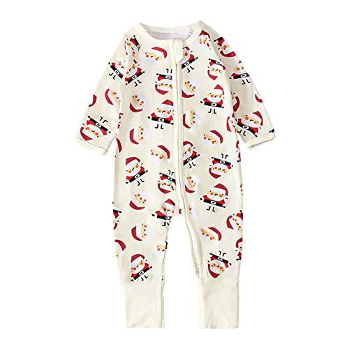 Sinhoon Baby Boy Christmas Clothes Romper Infant Boy Santa Claus Print Jumpsuit Toddler Long Sleeves Onesies