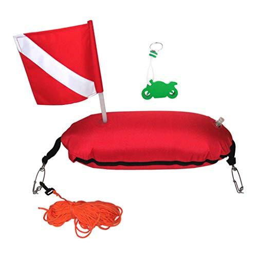 Desconocido Generic Boya de de Pesca Submarina Bandera de Buceo Inflable Y Llavero Flotante - Naranja, Motocicleta