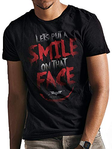 CID heren t-shirt Batman Dark Knight - Trilogy - Smile Quote
