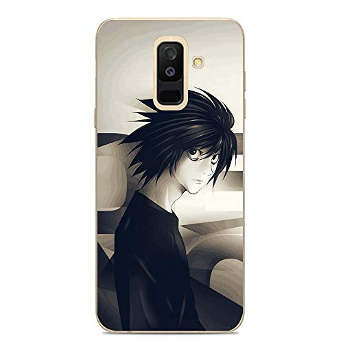 SweetST Shell Clear Coque Ultra Thin TPU Soft Silicone Frosted Compact Case Cover For Samsung Galaxy A6 Plus/J8 2018/A9 Star Lite-Japan Death-Note Ryuk-Kira 2