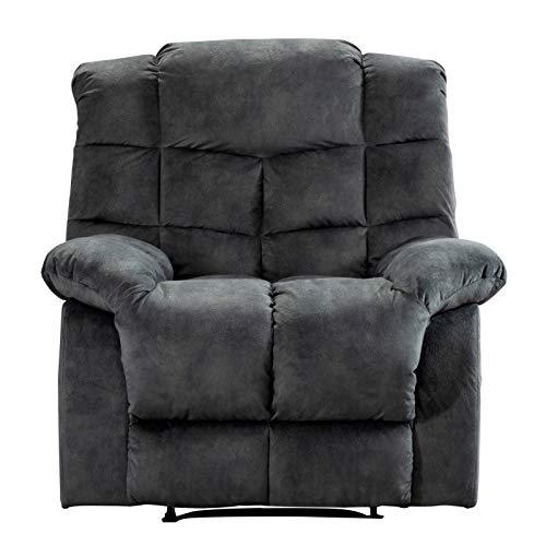 T-ara Suave y confortable Oficina, Gris, con reposacabezas y respaldo exclusivos para la sala de estar, un sofá soltero de reclinación manual, un asiento espacioso, diseño de estructura de acero resis