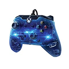 Officially licensed by Microsoft Pick a color or cycle through the rainbow with afterglow's signature Prismatic LED lighting Hook up your headset to the 3.5 millimeter audio jack enjoy chat and volume controls located directly on the controller Play ...