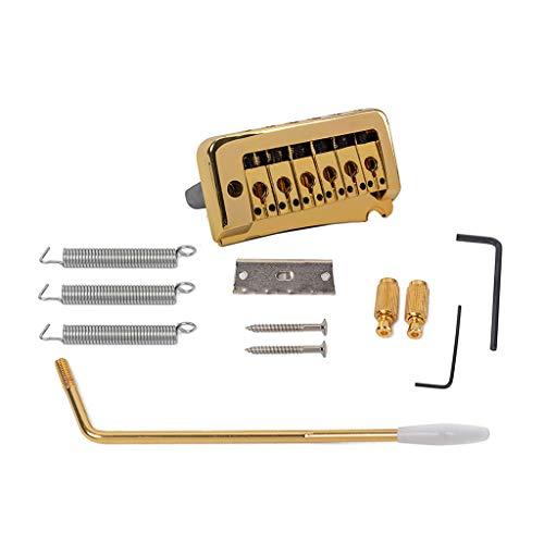 F Fityle Puente Golden ST Guitarra Eléctrica Tremolo System + Sillines de Acero Inoxidable