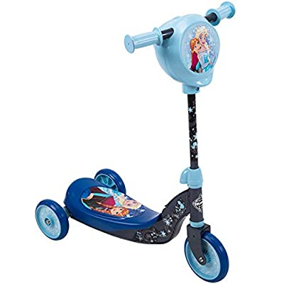 Huffy 38679 Disney Frozen Girls' Preschool Toddler Scooter with Secret Storage Compartment, Blue