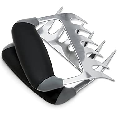 Meat Claws Pulled Pork Shredder Tools - Ultra-Sharp Stainless Steel Blades, Ergonomic Nonslip Grip Handles for Food Shredding, Pulling, Handling, Lifting, Cutting - Dishwasher Safe