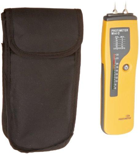 "GE Protimeter BLD2001 Mini C Moisture Meter, LED Display, 6 to 30% Range, 7-1/64"" Length x 1-29/32"" Width x 1.09"" Height"