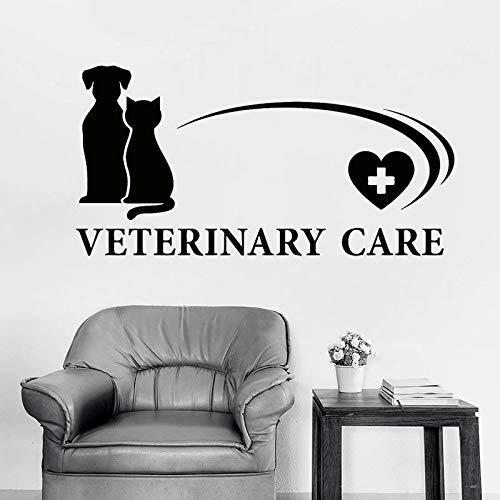 Adhesivo de pared de cuidado veterinario para tienda de mascotas, adhesivo de vinilo para hospital de animales, decoración