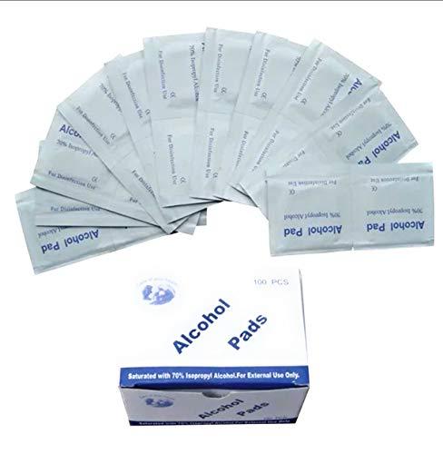 Bayai - 100 toallitas de algodón con alcohol, 75 % de alcohol, desechables, esterilización, desechables, 30 x 60 mm