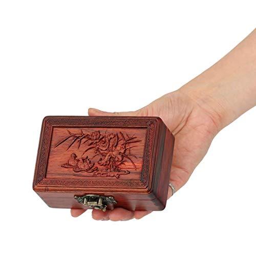 DLYDSSZZ Mechanische Uhren-Sammelbox im Retro-Stil, Massivholz, Schmuckbox für Manschettenknöpfe, Ringe, Ketten als Geschenk-Uhrenschatulle, Deko-Box (Farbe: A, Größe: 29 cm)