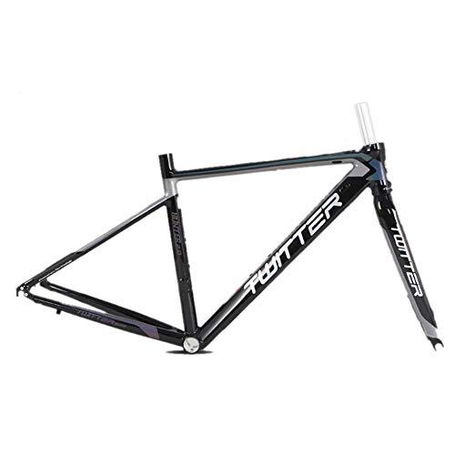 Telaio per bici da corsa in lega di alluminio con telaio per bicicletta da corsa con forcella 700C BB68 Unibody Passacavo interno Ultraleggero Ciclismo set di biciclette Super leggero 2.2 kg,D,2