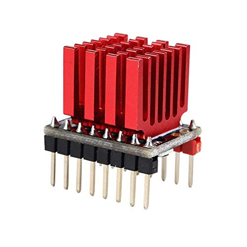 Yongenee Monitoring Power Ultra-silent 3Pcs TMC2130 V1.0 256 High Subdivision Stepper Motor Driver with Red Heat Sink for 3D Printer Part tools