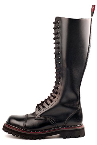 Aderlass 20-Eye Steel Boots Leather Black (Größe 37)