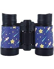 Fdrirect Telescópio infantil HD 4x30, binóculos coloridos infantis, telescópio binocular portátil antideslizante para esportes de viagem em acampamento ao ar livre