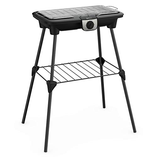Tefal BG921812 Easy Grill XXL - Barbacoa eléctrica sobre patas y mesa...
