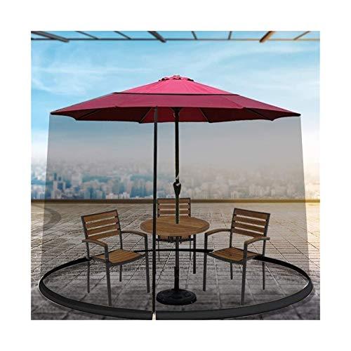 Paraguas Mosquitera para Gazebo – Jardín Exterior Pantalla Mosquitera sombrilla de jardín al aire libre Paraguas Parasol Tabla de poliéster Malla Mosquitera acoplamiento de la cubierta del recinto Mos
