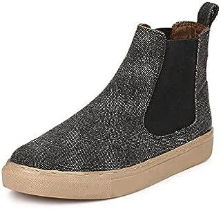 GUAVA Men's Black Chelsea Boots