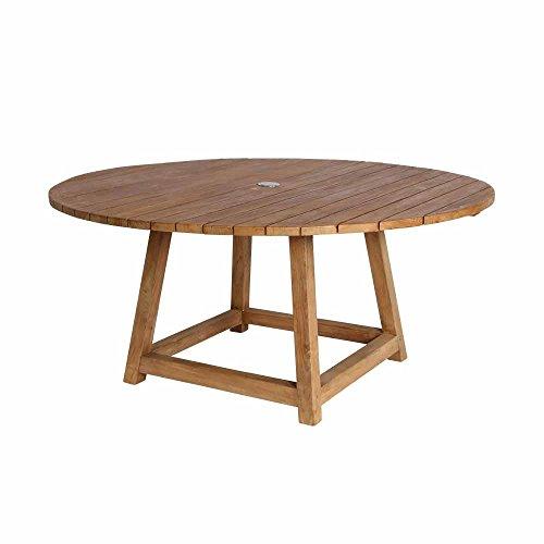 milanari Chambord Table de Jardin Ronde en Teck