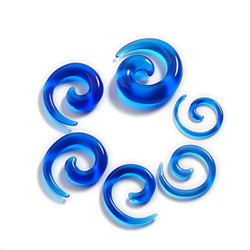 12 Unids Acrílico Ear Topers Espiral Ear Piercing Body Jewelry Mix Lots Fake Plug Tunnel Kit (Metal Color : D)
