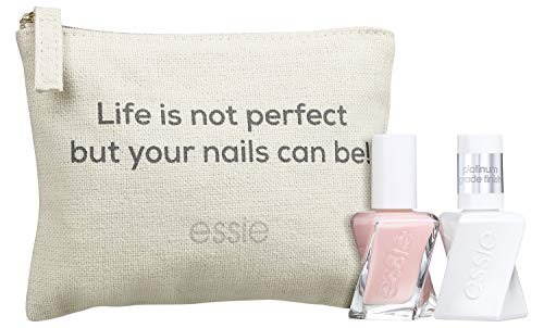 "Essie Nagellack-Geschenkset ""Gel Couture"", gossamer garments + Top Coat gel couture, Schminktasche, 2x 13.5 ml"