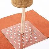Herramientas de estampado de cuero Juego de sacador de sello de forma numérica Para Artesanía de cuero repujado Estampador de cuero de bricolaje Trabajo de cuero