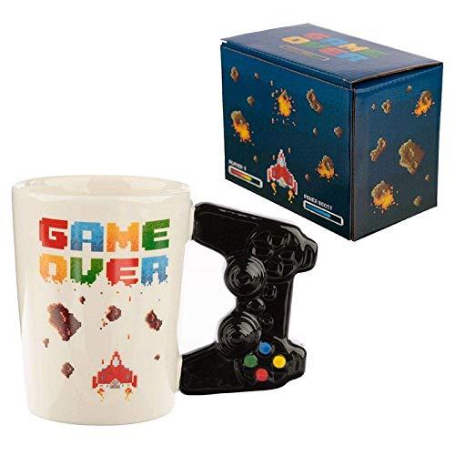 41RQnEUBboL. SS500 Taza con mango en forma de controlador joystick - game over pixellato Multicolor Alto 11cm ancho 14.5cm profundidad 8.5cm