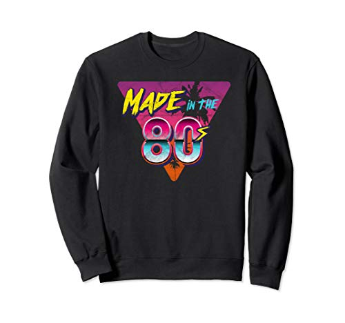 Made in the 80s Synthwave Triangle Graphic Sweatshirt, Unisex, S to 2XL