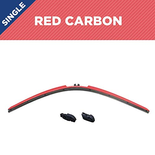 Clix Wipers - 24' Red Carbon Fiber, Carbon Collection, Racing inspired carbon fiber design, Set of 1...