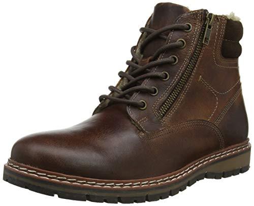 Red Tape Men's Sawston Combat Boots, Brown (Wood 0), 9 UK(43 EU)