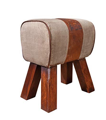 Inter Link Sitzhocker mit Holzfüßen und Retro-Look