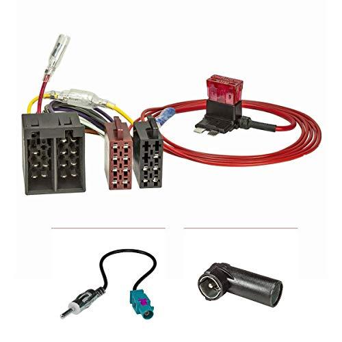 tomzz Audio 7015-007 Radio Anschluss Montage Set passend für Ford KA RU8 ab 2009-2017 auf ISO Norm, einfacher Zündplusabgriff über Sicherung, für Fahrzeuge mit Can-Bus