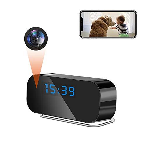 LXMIMI Telecamera Spia, 2.4G WiFi Telecamera Nascosta, 1080P HD Visione Notturna 150° Angolo Ampio Rilevamento del Movimento