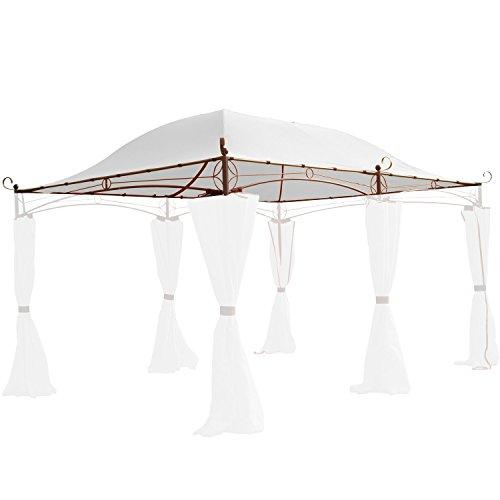 Miganeo Ersatzdach 4x3 m Partyzelt Gazebo Pavillion Dach Pavillion Pavilliondach Weiss
