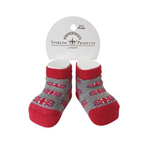 Sterling Product Premium Calcetines de bebé de algodón Fino, Grey, One Size Unisex Niños